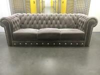 Grey chesterfield sofa •free delivery