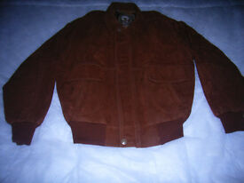 Mens brown leather jacket by ARMANI size medium