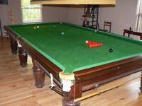 Full size snooker table. Thurston. Good condition.