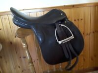 Black gp saddle, brown berny dressage saddle