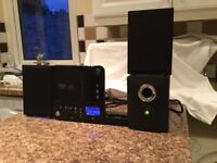 WHARFEDALE UPRIGHT CD PLAYER, TUNER, SUB WOOFER PLUS VARIOUS