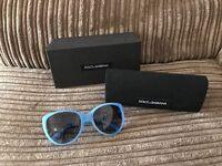 Authentic Dolce&Gabbana blue cat-eye sunglasses. BRAND NEW!!!