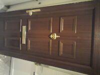 UPVC Rosewood Effect Front Door