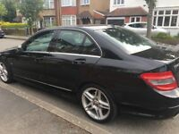 Mercedes C 220 Auto, Black with 56,000miles full service history 2011 plate, £7,950 tel 07930666235