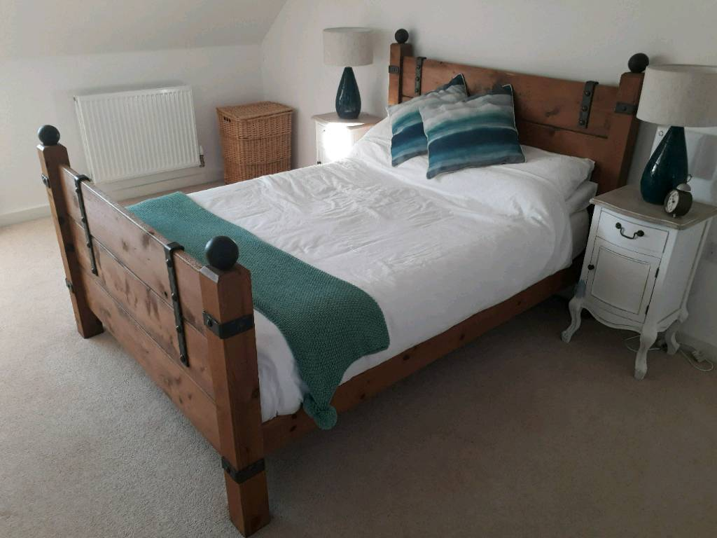 Unique Antique Looking Double Bed Frame In Northampton