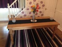 Solid Wood Farmhouse Style Dining Table only £30.00