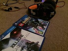 Ps4 games + pc/ps4 headset
