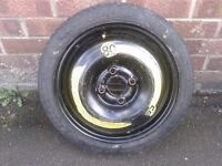 Compact Space Saver Spare Wheel 4 Stud T105/70R14 84M 3.5J14H2 ET42 VW POLO LUPO SEAT Renault