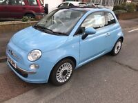Fiat 500 1.2 Lounge 3DR (Start/Stop). £30 Tax a Year