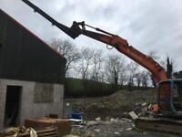 Excavator Extension boom / fly jib telescopic 4.5mtr