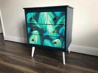 Upcycled spray-painted chest of drawers