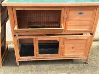 Pet Hutch and Run for Rabbits or guinea pigs