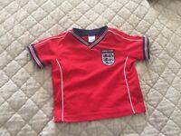 Kids England Football Shirt Size 9-12 Months
