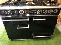 Stunning Falcon 1092 Dual fuel Range cooker Double oven Black and chrome applian