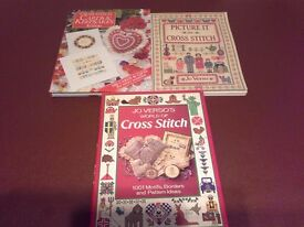 3 Jo Verso cross stitch books