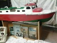 Vintage rc boat 50 years old raf crash tender