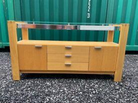 Contemporary Solid Oak Sideboard