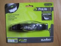 SUMMIT PRO LITE 30 HEAD TORCH LIGHT CAMPING SPORTS 3 ULTRA BRIGHT LEDs WITH ADJUSTABLE HEADSTRAP