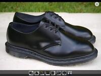 Brand New Dr Martens Black Unisex Shoe, Size 6