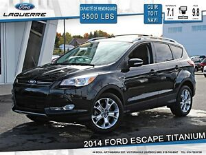 2014 Ford Escape **TITANIUM*AWD*CUIR*TOIT*NAVI*CAMERA*CRUISE*A/C