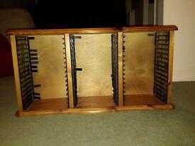 Pine DVD rack