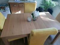Ikea bjursta Oak veneer Dining table