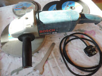 Angle Grinder Bosch with discs