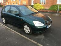 2002 HONDA Civic 1.4SE 5 Door, LONG MOT, 95k Miles, GOOD CONDITION