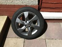 Nissan 16inch Alloy wheel with nearly new 185 / 55 R16 tyre.