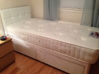 Single divan bed/mattress/ headboard