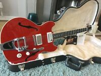 Gibson Midtown Standard. Faded red, Bigsby flame back!