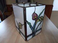"A ""TIFFINYS"" Leaded light Lampshade (Tulip)"