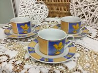 REDUCED Lovely Set of Vintage iconic c1960s Tea Cups+saucers Set