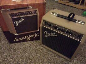 Fender Acoustasonic 15W Guitar and Vocal Amp