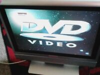 17 INCH FREEVIEW TV DVD COMBI IN PERFECT WORKING ORDER BARGAIN