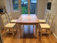 shabby chic reclaimed dining table