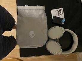 Skullcandy Crusher Evo Wireless Over-Ear Headphones - Light Grey/Blue