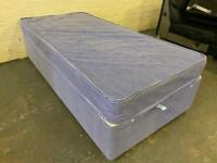 SINGLE BED BASE WITH MATTRESS IN EXCELLENT CONDITION