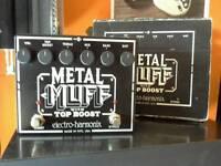 Electro Harmonix Metal Muff with TOP BOOST guitar pedal
