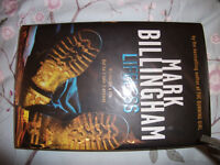 MARK BILLINGHAM LIFELESS SIGNED 1ST EDITION NEVER READ