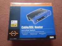 Linksys EtherFast Cable/DSL Router with 4-port switch - brand new, unopened