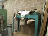 1M Pack Dust/Chipping Extractor 3 phase two large bag system with duckting and gates