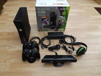 Xbox 360S 250Gb + Kinect Sensor + 37 games installed excellent condition