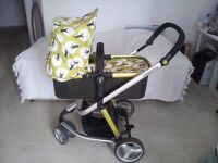Cosatto Giggle Treet Travel System Pushchair / Pram / Buggy / Stroller