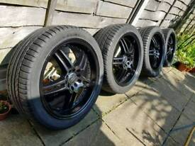 "17"" alloy wheels 5x100 5x114 audi with tyres vw tires"