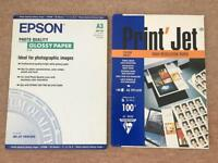 A3 Epson Glossy Photo Paper