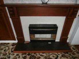 Wood Fire Surround and Hearth