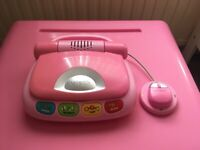 Kids Childrens Pink Vtech 'My Laptop' - In great condition
