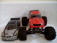2 X RC Nitro/Petrol Cars