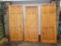 3 x pine internal doors